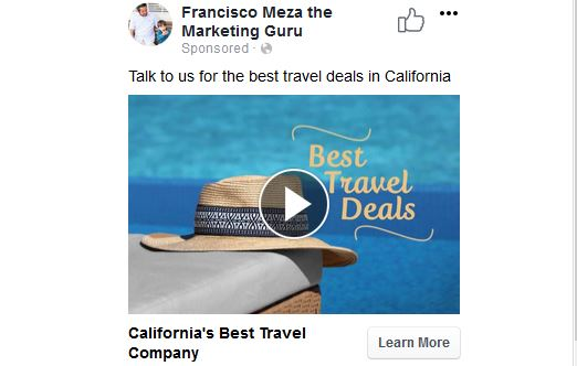Travel Company Ad Preview