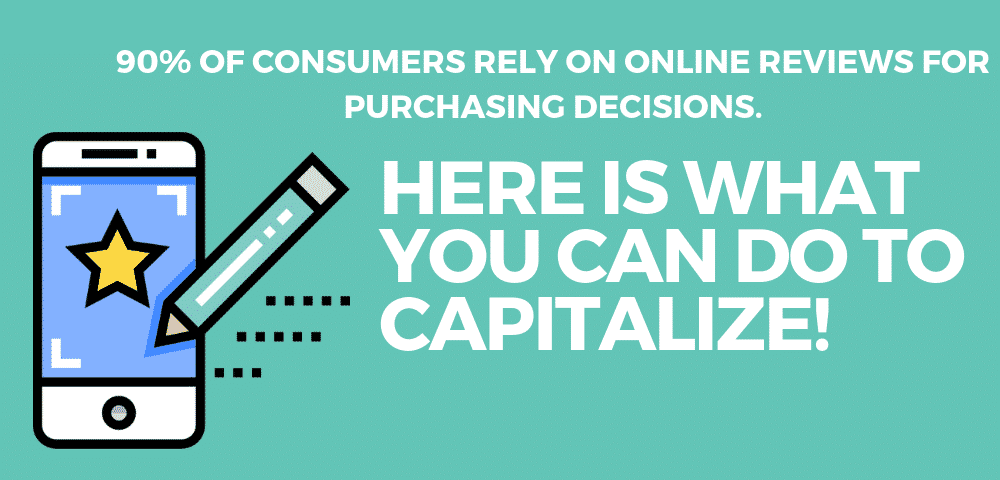 90% of consumers rely on online reviews for purchasing decisions. Here is what you can do to capitalize!