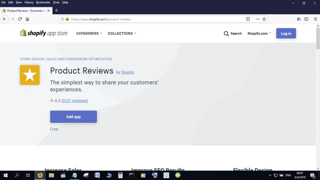 You can download the shopify product reviews app onto your eCommerce site free of charge