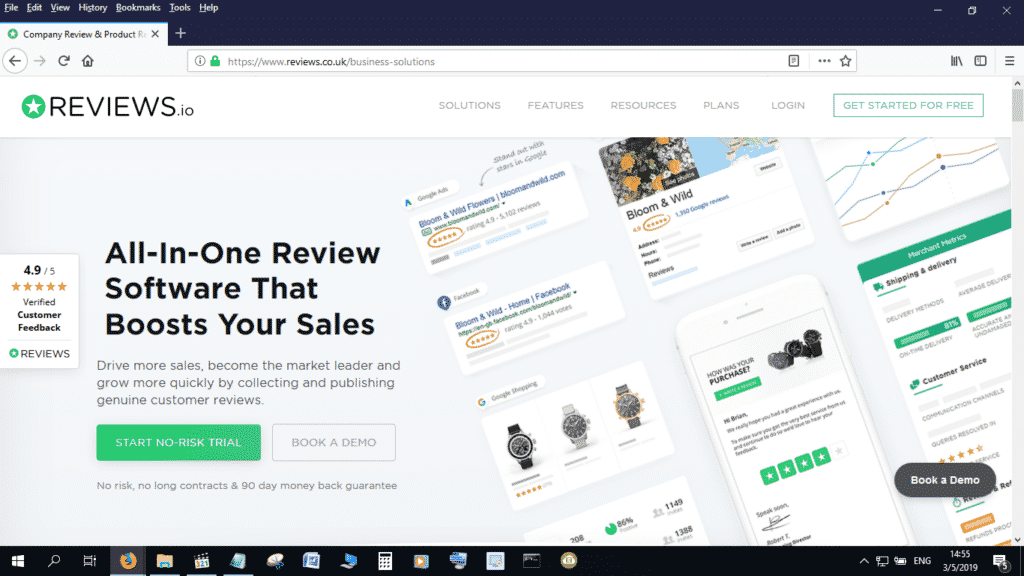 Reviews.io is a great Shopper Approved alternative