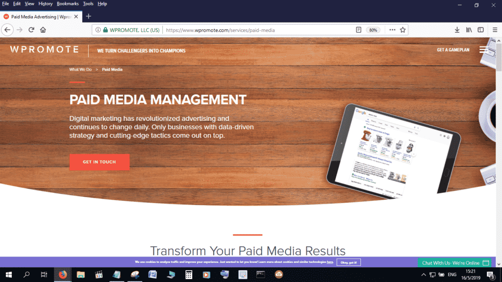 WPromote is another great paid media management