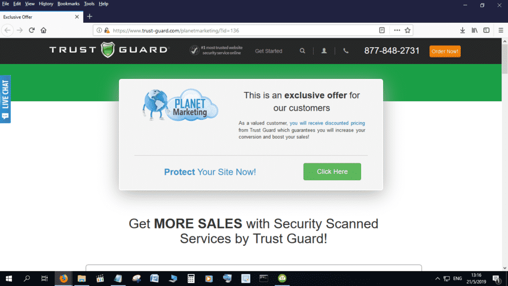 Check out this amazing Trust Guard - Planet Marketing deal!