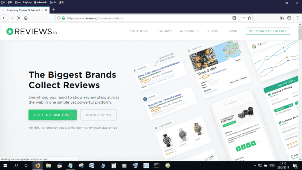 Reviews.io is a good Trustpilot and Yelp alternative