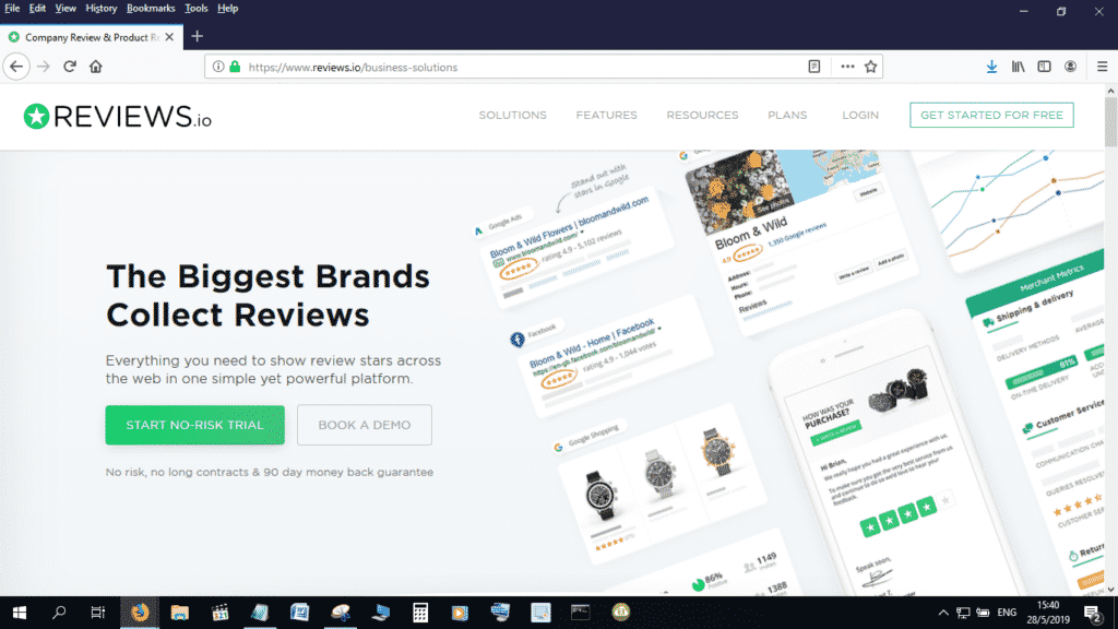 Reviews.io is another great alternative to Trustpilot and Feefo
