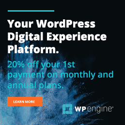Use this Link to get Hosting Discounts from WPEngine!