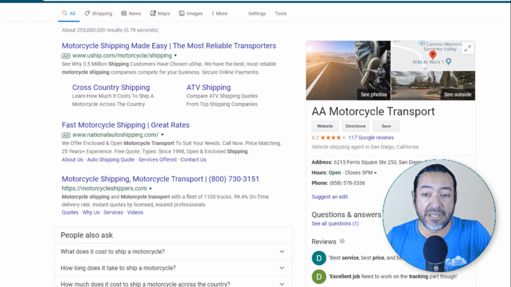 shoult motorcycle shipping bother with SEO?