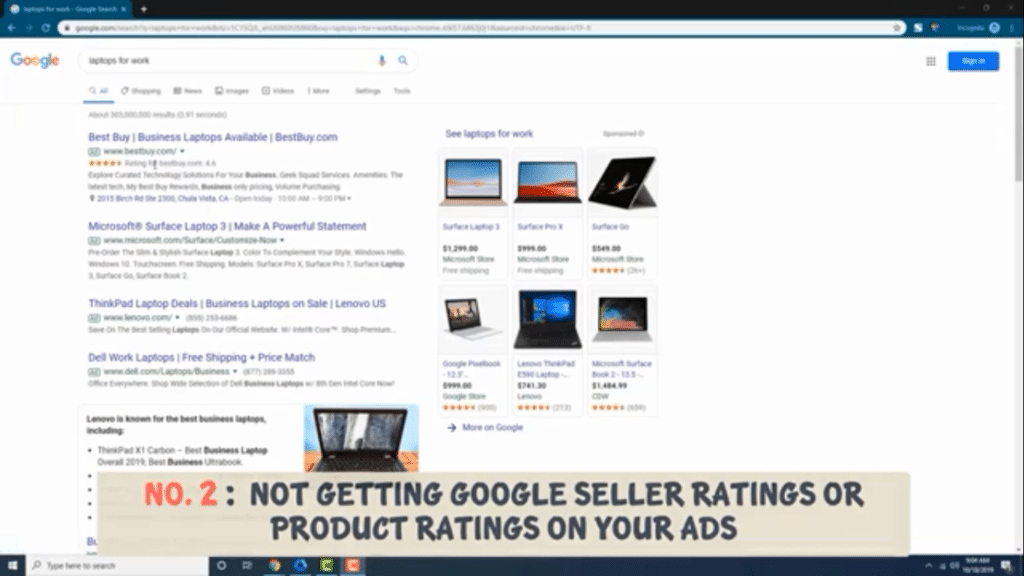 get seller and product ratings