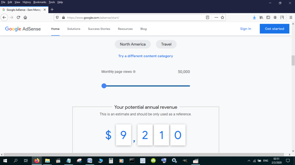 Google ads potential earnings
