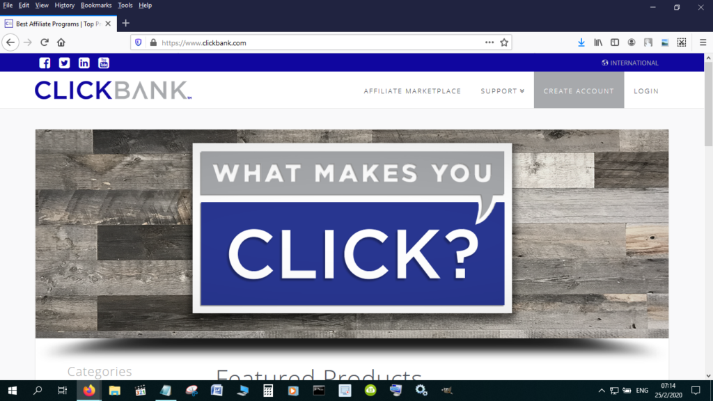 Clickbank is one of the best known affiliate networks