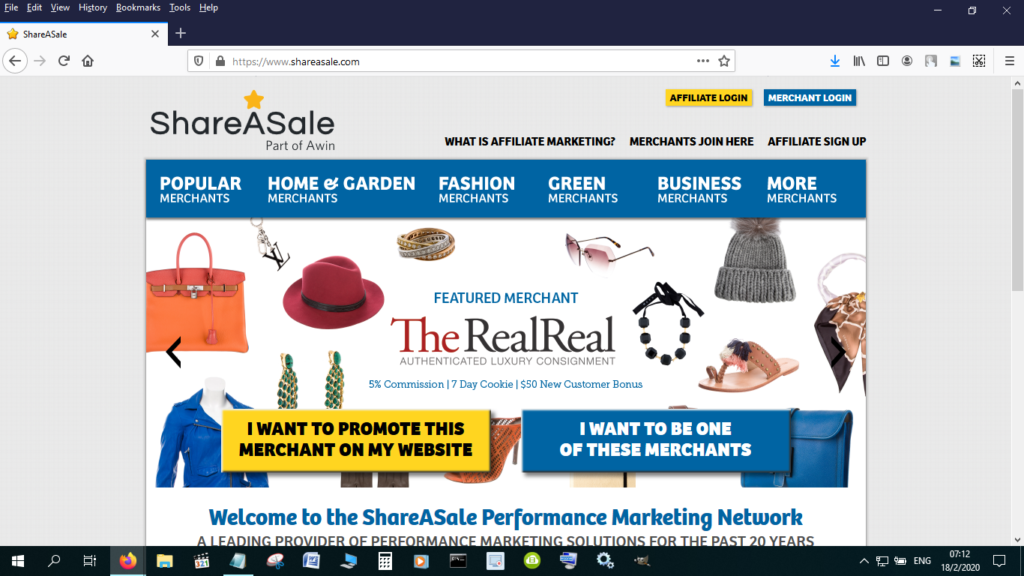ShareASale is great for physical goods