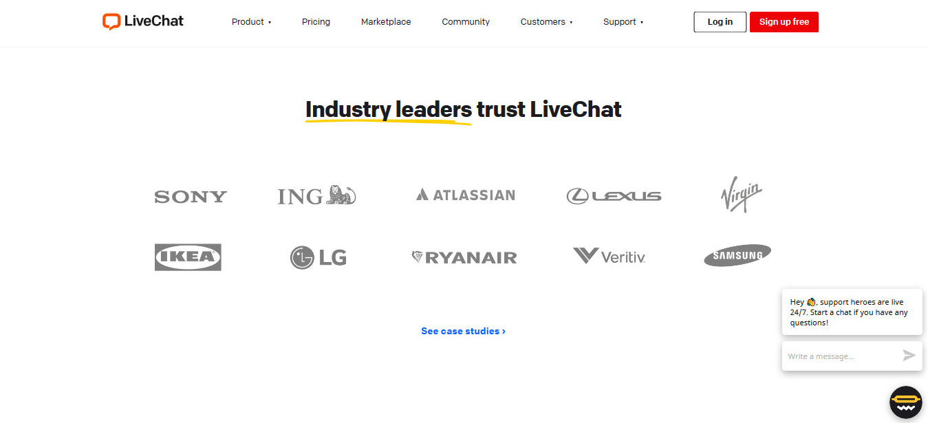 LiveChat is used by big names