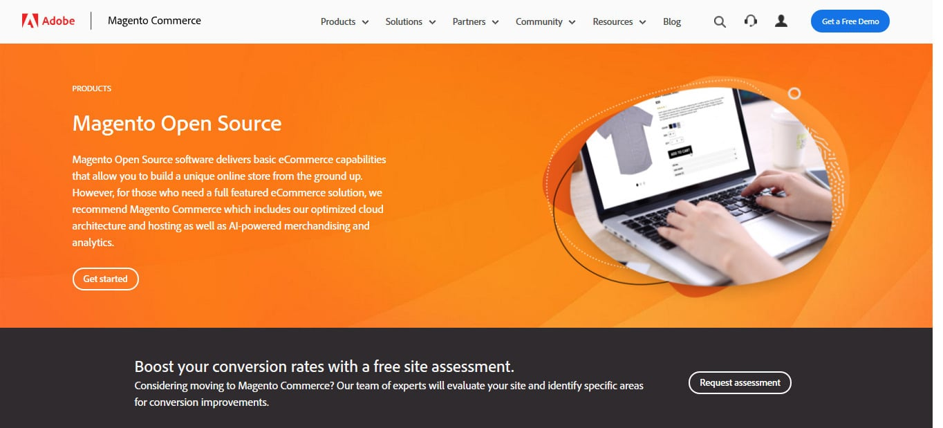 Magento Open Source is great eCommerce software for beginners
