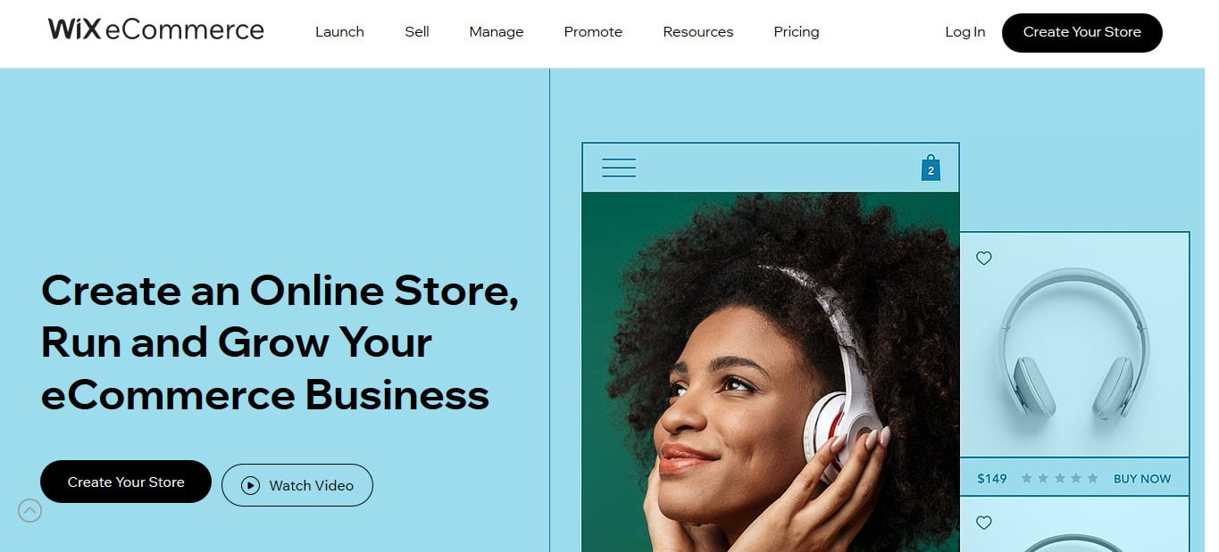 Wix has an eCommerce component