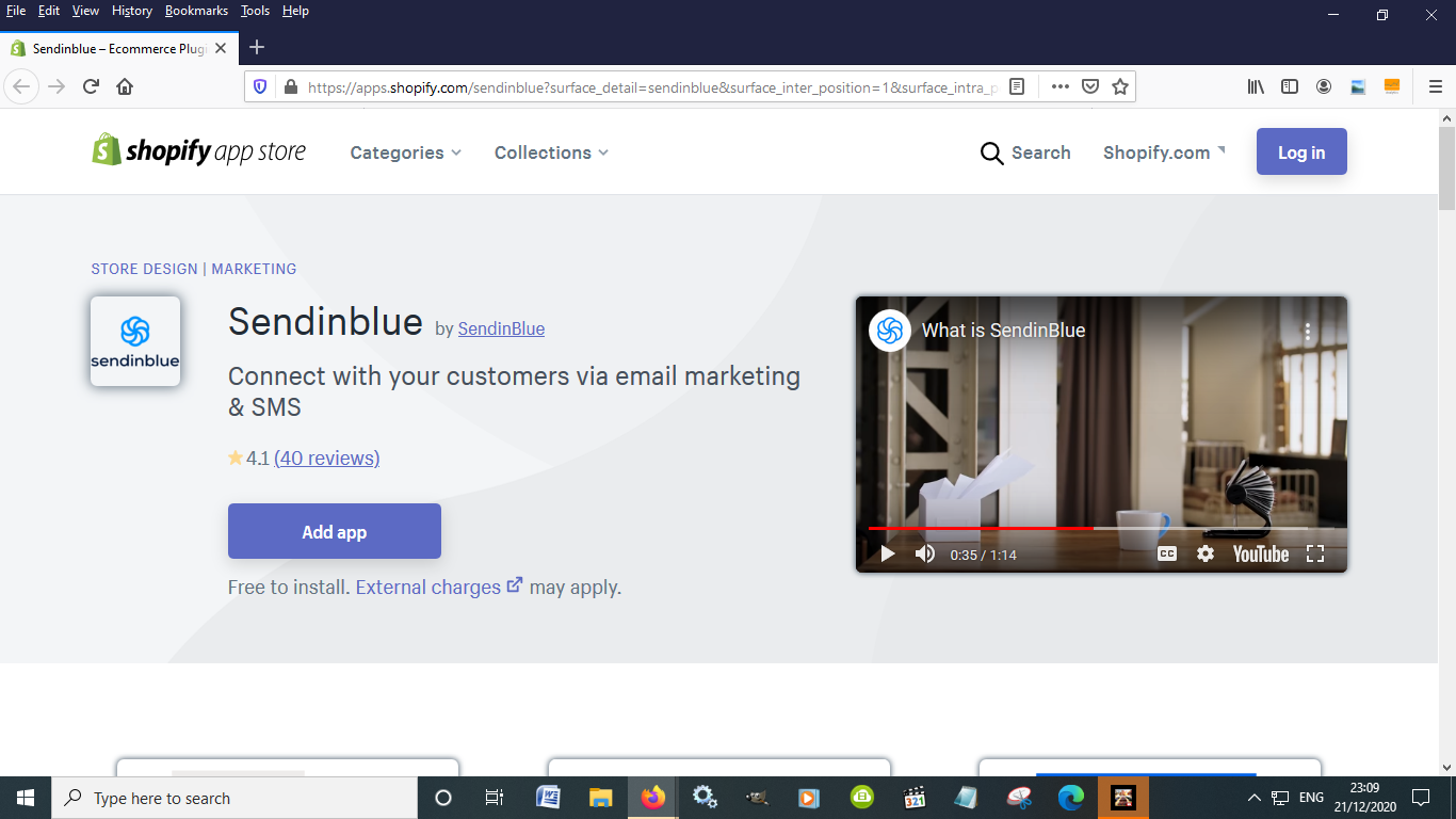 Sendinblue is another must have Shopify plugin for eCommerce
