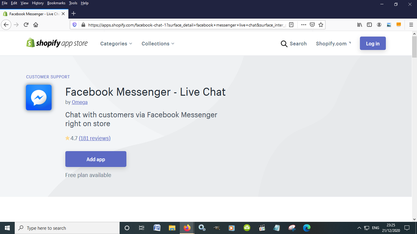 Facebook Messenger Live chat is another essential Shopify App to help boost sales
