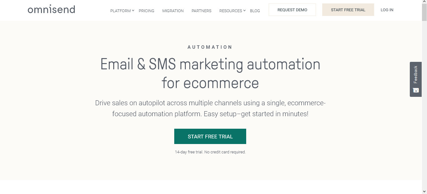 Omnisend is also an option for automating emails