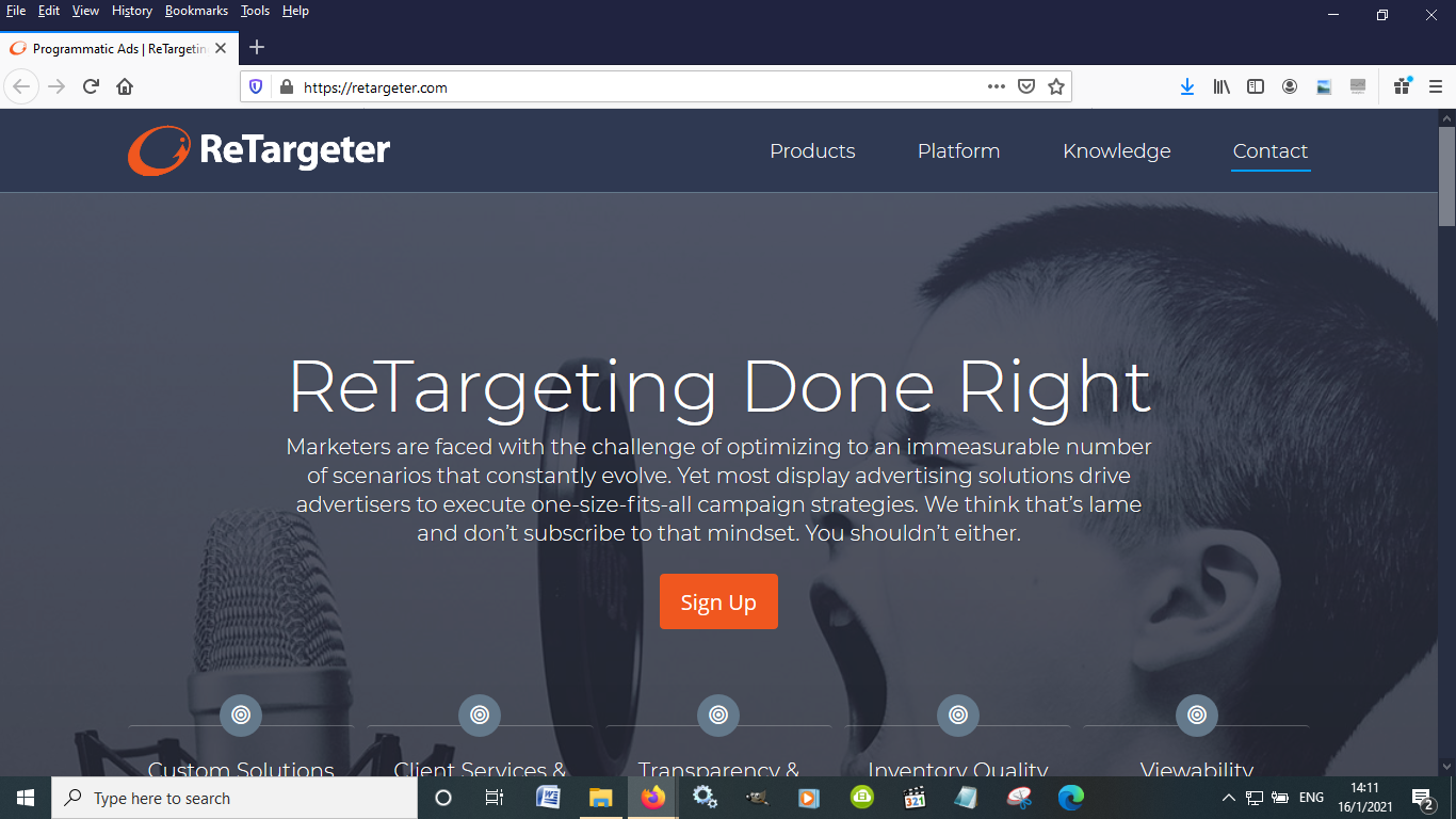 Retargeter is another great remarketing platform to increase sales for eCommerce