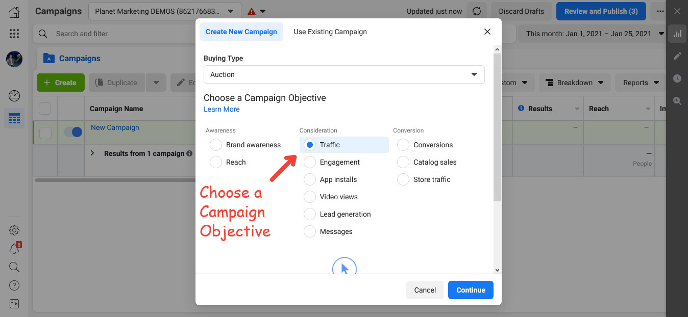 Campaign Objective Facebook Ads for churches and temples