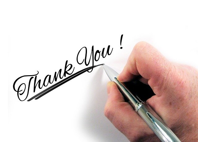 Thanking your customers can get you positive feedback