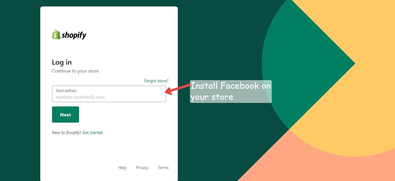 Install Facebook on your eCommerce store