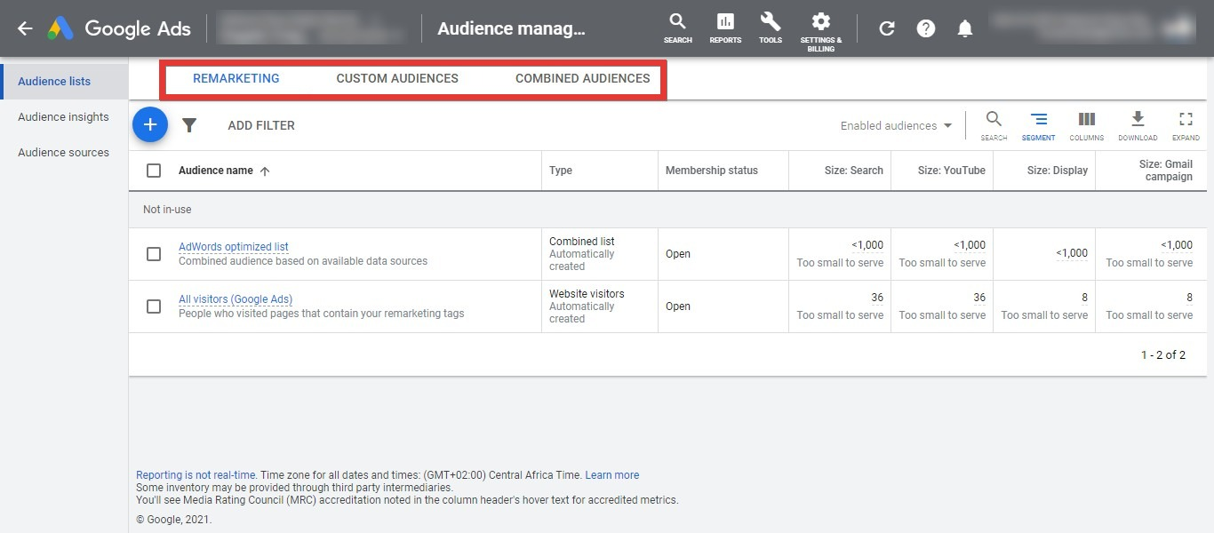 Create your Audience in Audience Manager